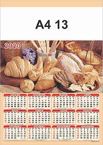 100 Calendários Folhinha  2020 S/ Personalização Pão