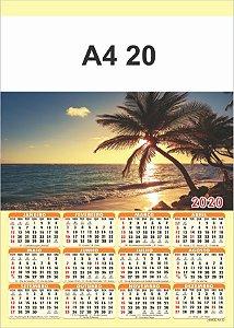 100 Calendários Folhinha  2020 S/ Personalização Paisagem - Praia