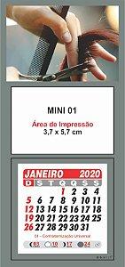100 Mini Calendário Imã Geladeira 2020 Personalizado Cabeleleira