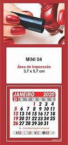 100 Mini Calendário Imã Geladeira 2020 Personalizado Manicure