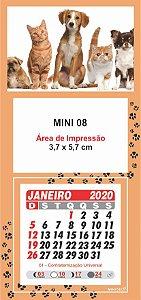 100 Mini Calendário Imã Geladeira 2020 Personalizado Petshop