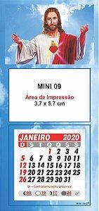 100 Mini Calendário Imã Geladeira 2020 Personalizado Jesus