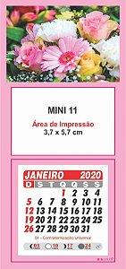 100 Mini Calendário Imã Geladeira 2020 Personalizado Flor