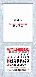 100 Mini Calendário Imã Geladeira 2020 Personalizado Moldura