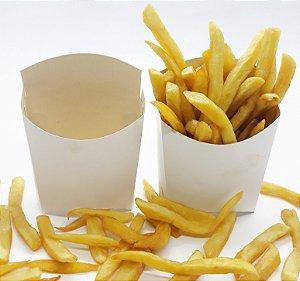 Embalagem Batata Frita Branca Caixa Caixinha Papel 100 Unid