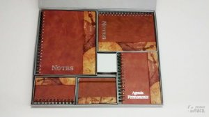 Kit Agenda Permanente Caderno Brinde Corporativo Sketchbook