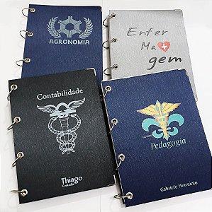 Caderno Argolado Personalizado Direito 10 Matéria Profissões