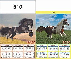 100 Folhinhas com Cartela Para Personalizar 27x46 cm Calendario Semestral 2020 Linha 800