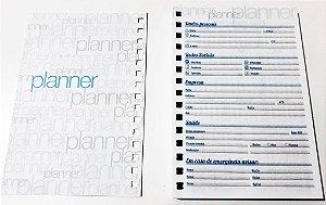 Miolo De Agenda Planner Permanente Em Papel Para Artesanato