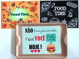 500 Toalha De Papel Forro Para Bandeja Fast Food Americana