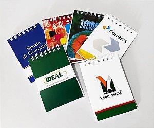 50 Mini Cadernetas Personalizada 10x7 Bloco De Rascunho P/ Brinde Lembrancinha