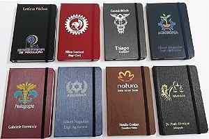 Caderneta Pequena Personalizada 9x14 cm Com Logotipo Nome