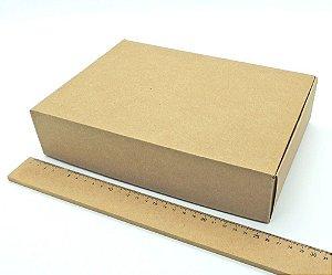 10 Embalagens Para Presente Em Papel Kraft Marrom 25,5x18x6