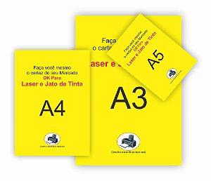 300 Cartaz A3 A4 A5 Amarelo P/ Impressora Jato Tinta Oferta