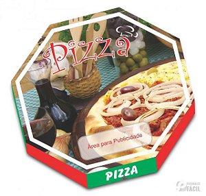 40 Caixas De Pizza Embalagem Oitavada Mista 36 Fotográfica