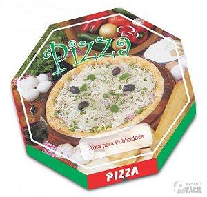 20 Caixas De Pizza Papelão Oitavada Cebola 36 Cm Fotográfica