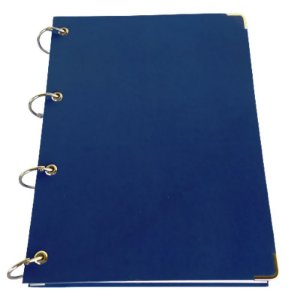 Caderno Azul Universitário Argolado 10 Matérias Capa Dura