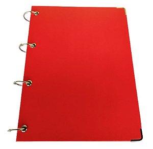 Caderno Vermelho Universitário Argolado 10 Matérias Fichário