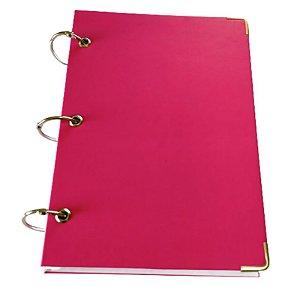 Caderno Argolado Feminino Pequeno Rosa Pink 10 Matérias A5