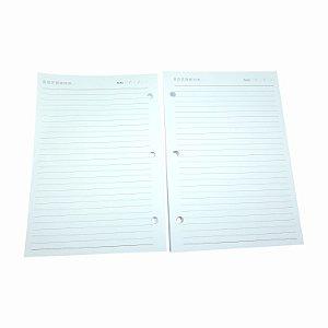 200 Refil Caderno Argolado Pautado Pequeno Grafiara 3 Furos