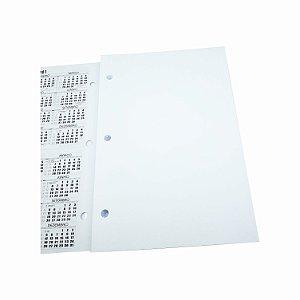 200 Refil Caderno Pequeno Argolado Sem Pauta Lisa 3 Furos