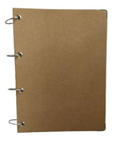 Caderno Universitário Argolado Kraft Rústico 10 Matérias Fichário