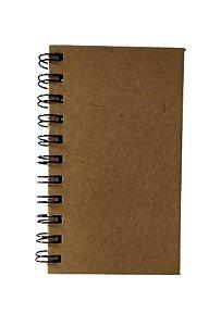 5 Cadernetas Espiral Lisa Artesanal Kraft Capa Dura Marrom