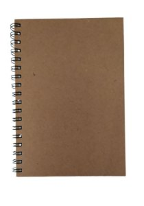 2 Cadernos Espiral Artesanal Kraft Tipo Agenda Permanente