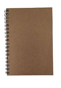 Caderno Artesanal Kraft Tipo Agenda Permanente Universitário