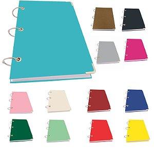 Caderno Argolado Fichário A5 Pequeno 400 Folhas Pautadas 20 Matérias