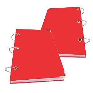 Caderno Argolado A5 Pequeno 200 Folhas Sem Pauta Lisa 10 Matérias