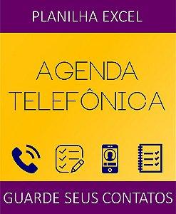 Agenda Telefônica 2018 - Planilha Excel