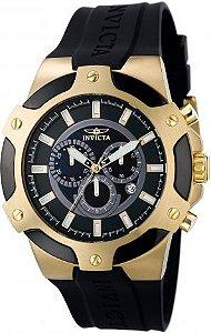 5f40e11270d Relógio Invicta 7343 Signature II Caixa em aço inoxidável com acabamento em  ouro 18k e pulseira