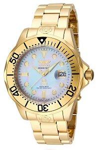 5fc1f9646dd Relógio Invicta 16033 Grand Diver Automatico 300M banho em Ouro 18k polido  Mostrador em Madrepérola