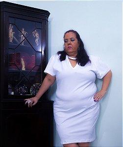 vestido branco brilho