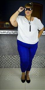 Calça skinny  plus size azul