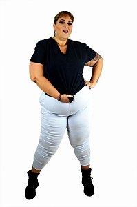 Calça skinny  plus size risco de giz