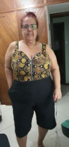 Cropped plus size cobra bergaline