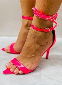 Sandália Zhaceci de Bico Folha Pink