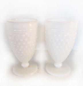 Par de copos Milk Glass