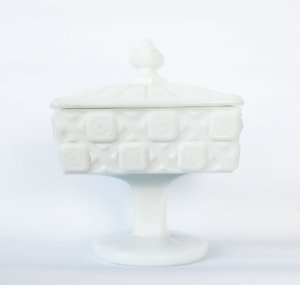 Milk Glass - Porta doces