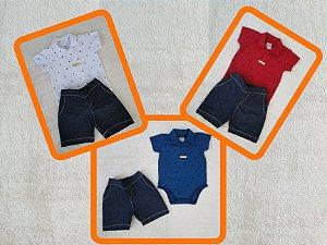 Conjunto Body e Shorts - Bebê
