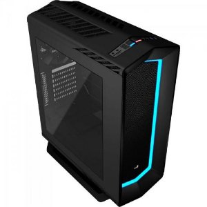 Gabinete Gamer Mid Tower PROJECT 7 EN58294 Preto AEROCOOL