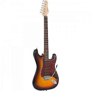 Guitarra Strato G-100 Sunburst com Escudo Tortoise GIANNINI