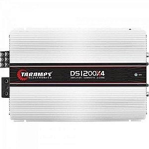 Módulo Amplificador 1200W 2R 04 Canais DS1200 Branco TARAMPS
