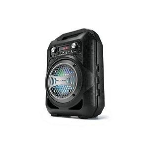Caixa De Som Portátil 4 Polegadas Bluetooth/FM/SD/P2/USB Multilaser