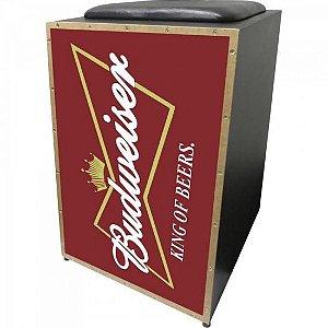 Cajon Acústico Inclinado Profissional K2 COR-001 Budweiser