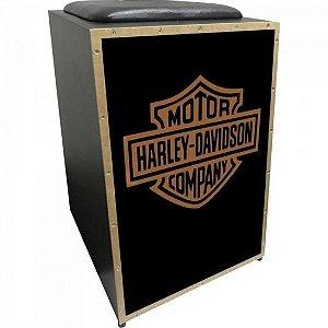 Cajon Acústico Inclinado Profissional K2 COR-007 Harley Davidson