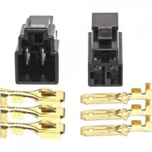 Conector 3 Vias Plastico Kit M/F Preto STORM