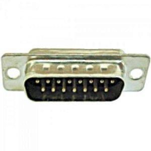 Conector Macho com Pinos DB15 GENÉRICO